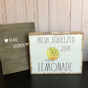 Rae Dunn lemonade sign